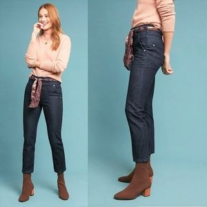 Anthropologie Pilcro High Rise Scarf Belted Jeans